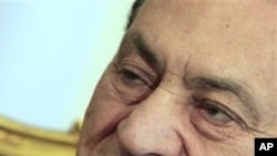 Former Egyptian President Hosni Mubarak (file photo)