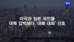 """미·일 국민 """"대북 압박보다 대화 선호"""""""