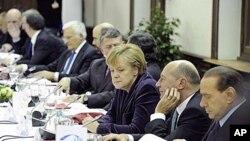 德国总理在欧盟峰会前的会议上