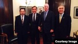 Thai Deputy Foreign Minister, Don Pramudwinai meeting with John McCain, Senator from Arizona.