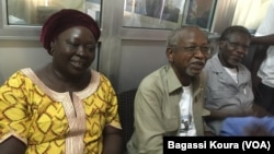 Three leaders of Chad's civil society movement who were arrested last year.