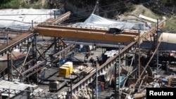 Suasana di tambang batu bara yang kebakaran di kota Soma, provinsi Manisa, Turki (18/5).