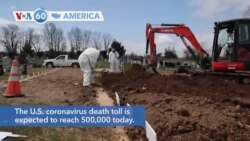 VOA60 Ameerikaa- The U.S. coronavirus death toll is expected to reach 500,000 today