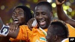 Yaya Touré, capitaine des Eléphants de la Côte d'Ivoire, 8 février 2015.