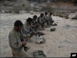 A group of Houthi fighters in Yemen's north