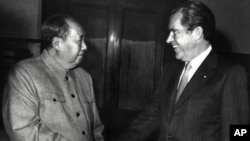 Mao Zedong y Nixon se reunieron en 1972 durante la visita presidencial, pero Nixon regresó a China tras Tiananmen.