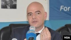 Le président de la Fifa Gianni Infantino
