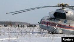 Hiện trường vụ tai nạn máy bay ở ngoại ô Moscow, Nga, ngày 12/2/2018.