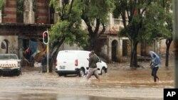 Choveu forte em Maputo