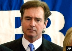 "FILE - Democratic Representative Brian Higgins of New York told VOA that he had expected a close finish in the Iowa caucuses because a sizable, long-standing lead like Hillary Clinton had in the polls ""is very, very difficult to sustain."""