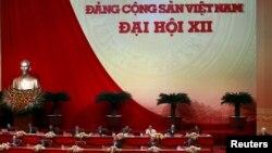 Tổng Bí thư đảng cộng sản Việt Nam Nguyễn Phú Trọng phát biểu tại lễ khai mạc Đại hội đảng 12 tại Hà Nội, ngày 21/1/2016.