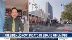 Laporan Langsung VOA untuk MetroTV: Presiden Jokowi Pidato di Sidang Majelis Umum PBB
