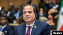FILE - Egypt's President Abdel-Fattah el-Sissi listens at the opening ceremony of the African Union summit in Addis Ababa, Ethiopia, Jan. 28, 2018. Activists say Egypt's human and civil rights record has deteriorated sharply under Sissi.