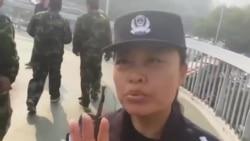 近千名退伍军人北京军委总部外抗议