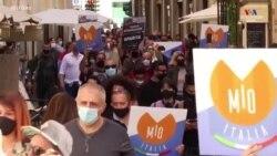 Հռոմում մարդիկ ցույցի են դուրս եկել ընդդեմ COVID-19-ի նոր սահմանափակումների