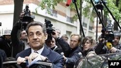 Francuski predsednik Nikola Sarkozi uoči glasanja u prvom krugu predsedničkih izbora
