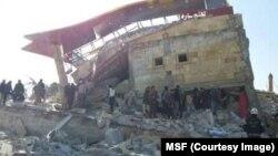 Hình ảnh đống đổ nát của một bệnh viện ở tỉnh Idlib, miền bắc Syria, được cung cấp bởi Bác sĩ Không biên giới ngày 15 tháng 2 năm 2016.
