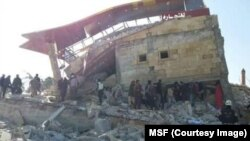 Doctors Without Borders provided this image of a hospital, ruined in airstrikes, that it has supported in northern Syria's Idlib province, Feb. 15 2016.