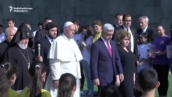 Pope Francis Visits Armenian Memorial