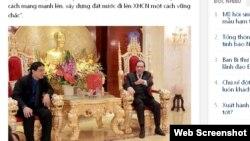 Mantan ketua partai komunis Vietnam, Nong Duc Manh di rumahnya yang berhiaskan dengan lapisan emas (foto: dok).