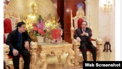 A photo run by the Tien Phong newspaper shows Vietnam's former Communist party chief Nong Duc Manh in what is reported to be his opulently decorated home.