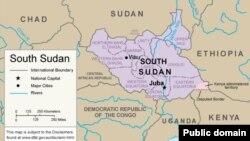 정부군과 반군 간 유혈사태가 벌어지고 있는 아프리카 남수단의 지도