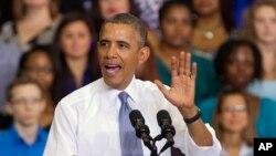 Tổng thống Obama nói về luật chăm sóc sức khỏe tại Đại học Cộng đồng Prince George trong thành phố Largo, tiểu bang Maryland, Hoa Kỳ