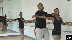 Fabian Barnes, a former dancer with the Dance Theatre of Harlem, now offers his expertise to low-income children in Washington, DC.
