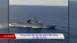 Tàu chiến Mỹ rút, TQ tập trận ở biển Đông