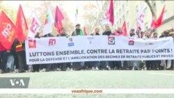 Grève général en France contre un régime universel