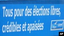 Autocollant produit par la Commission électorale nationale indépendante de RDC, 2011