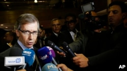 L'émissaire des Nations unies pour la Libye Bernardino Leon