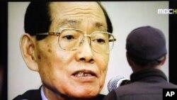 故황장엽(87) 전 북한노동당 비서의 사망 소식을 전하는 한국의 TV방송화면