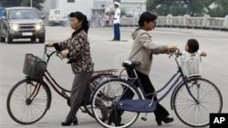 북한 라선지구의 주민들. (자료사진)