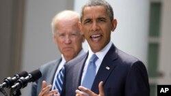 Predsednik Barak Obama i potpredsednik SAD Džozef Bajden u Beloj kući