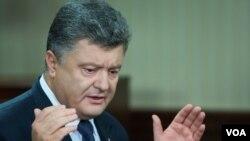 Presiden Ukraina Petro Poroshenko memuji penegakan gencatan senjata di Ukraina timur (foto: dok).