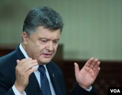 Ukrainian President Petro Poroshenko in Kyiv, Ukraine, September 4, 2015.