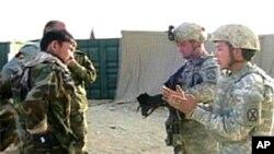 美军训练阿富汗部队执行任务