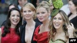 Sex and the City dizisinin oyuncuları (soldan sağa) Kristin Davis, Cynthia Nixon, Kim Cattrall ve Sarah Jessica Parker
