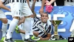 Carlos Tevez, joueur argentin de la Juventus