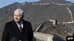 Američki sekretar za odbranu Robert Gejts prilikom današnjeg obilaska Velikog kineskog zida, severno od Pekinga