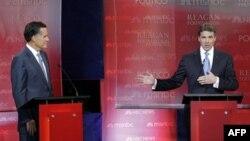 Kandidatët republikanë për president kritikuan njeri tjetrin si dhe Presidentin Obama