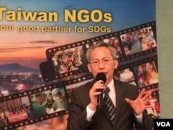 台湾外交部非政府组织事务会执行长赖铭琪 (美国之音钟辰芳拍摄)