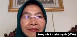Komisioner Perempuan, Maria Ulfah Anshor, Jumat 22 Mei 2020, dalam tangkapan layar. (Foto: VOA/Anugrah Andriansyah)