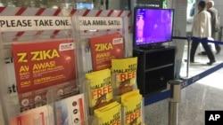 Peringatan perjalanan terkait virus Zika di bandara internasional Kuala Lumpur International Airport di Sepang, Malaysia, 28 Agustus 2016 (Foto: dok).