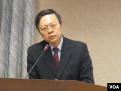 陸委會主委王郁琦 (美國之音張永泰拍攝)