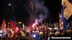 Los 400 mineros llegan a Madrid, donde miles de personas se han unido a su protesta.