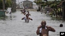 上個星期在菲律賓馬尼拉以北的馬拉邦洪水的災情