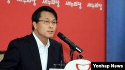 윤상현 새누리당 의원가 지난달 20일 서울 당사에서 기자간담회를 열고 국정감사 등 현안과 관련한 발언을 하고 있다. (자료사진)