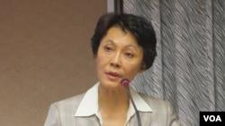 台湾在野党国民党立委黄昭顺(美国之音张永泰拍摄)